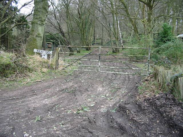 Gate entrance to Park Wood