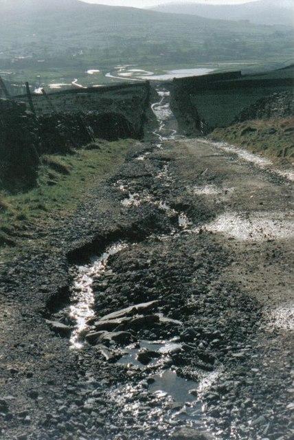 Shutt Lane after the rain