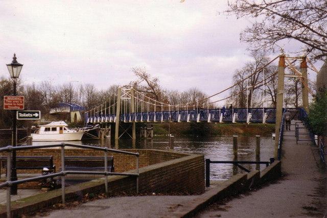 Footbridge over the Thames at Teddington Lock
