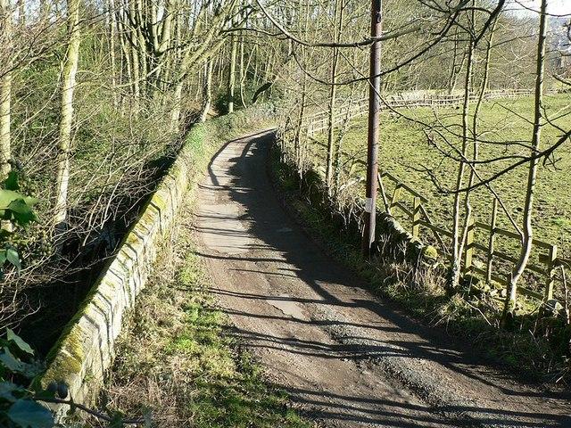 The lane to Owlet Farm