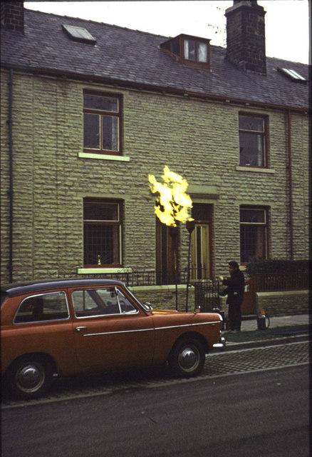 Fitzroy Road Bradford, Gas Conversion 1973