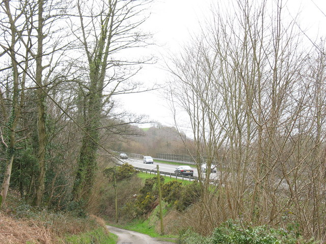The Felinheli By-pass from Ffordd Fodolydd