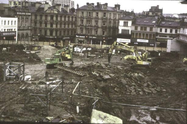 Bradford Kirkgate Market during demolition