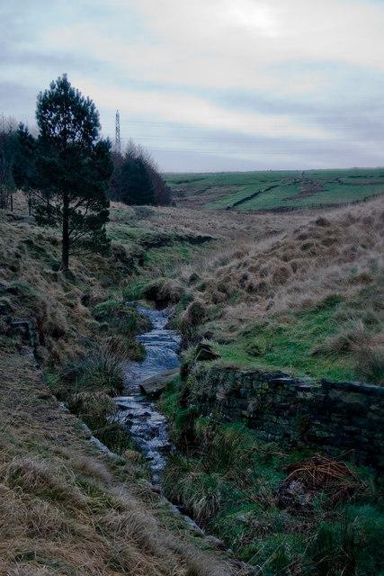 Stream entering Brushes Clough Reservoir