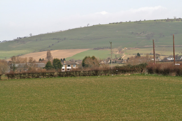 Homelands farm buildings with Oxenton hill beyond