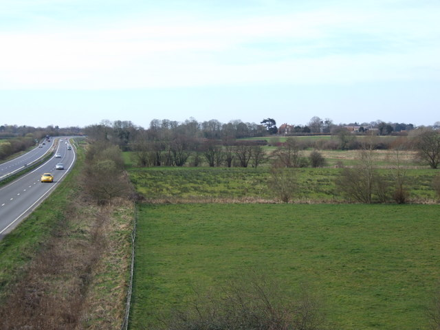 A11 across the square to Attleborough Hall