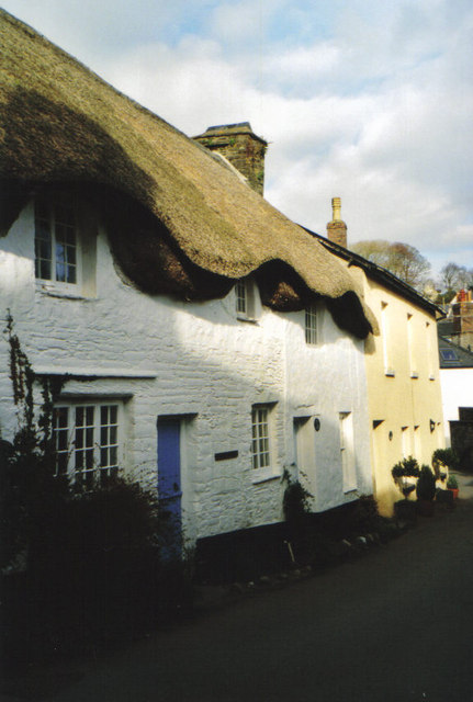 Pretty cottages in Slapton