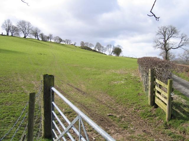 Pastureland near Bryneglwys