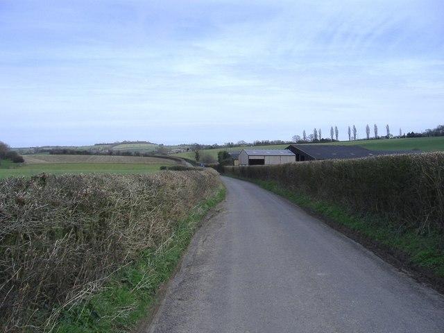 Farm buildings, west of Priston
