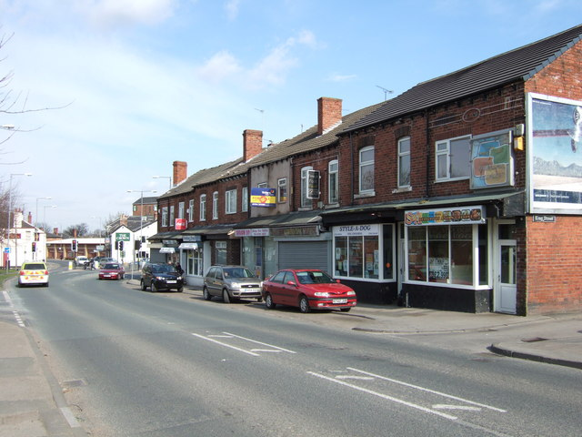 Shops on Wakefield Road, Normanton.