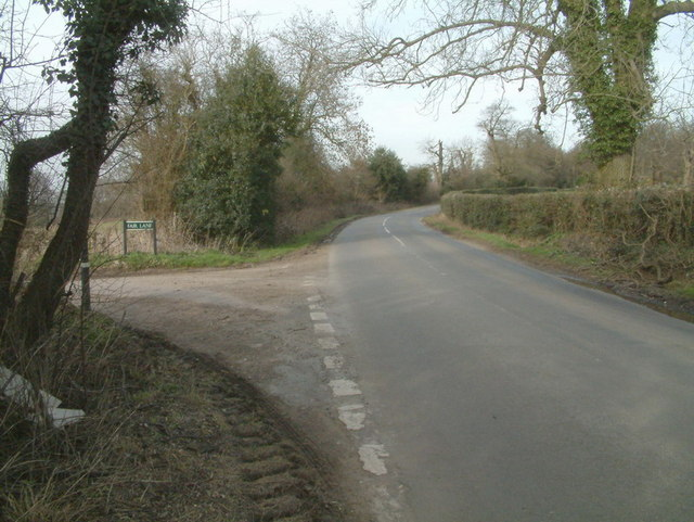 High Road at the junction with Fair Lane