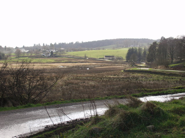 Corsock village from Crogo Mains road end