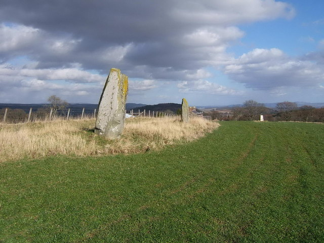 Standing stones at East Cult Farm