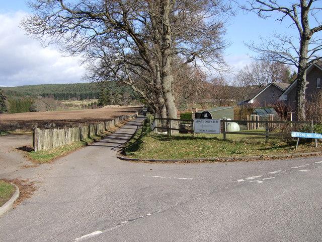 Access road to Aboyne Golf Club