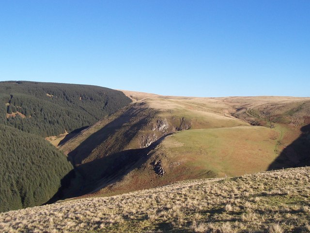 Ravens Crag above the Allerhope Burn