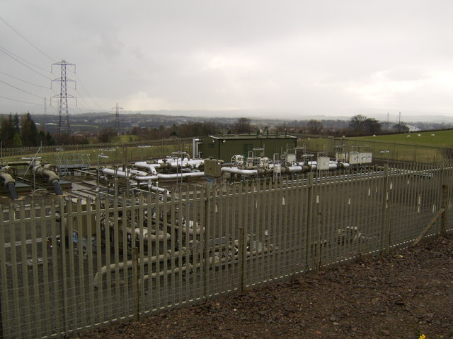 Gas treatment works behind Mountblow