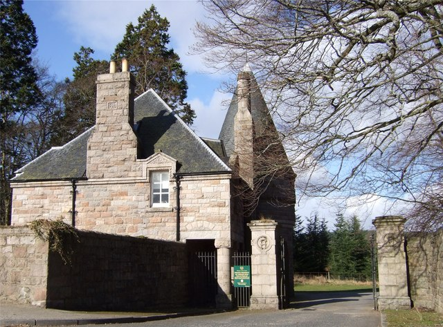 Private entrance to Aboyne Castle