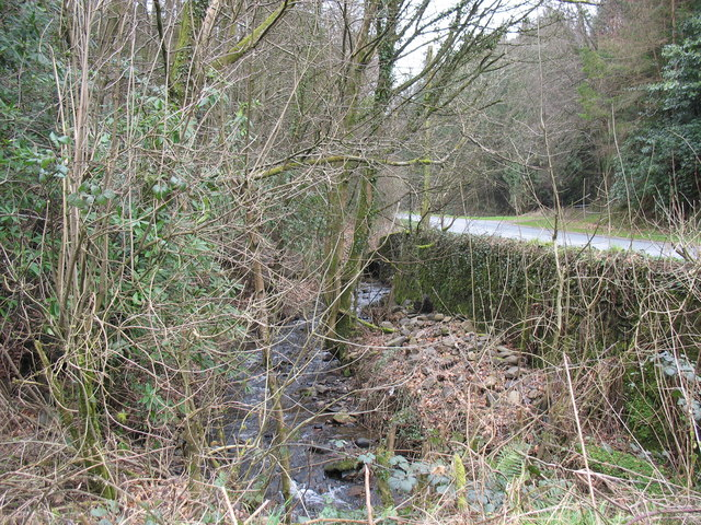 Looking towards the site of the former Pont Ladi-wen - a notoriously haunted bridge