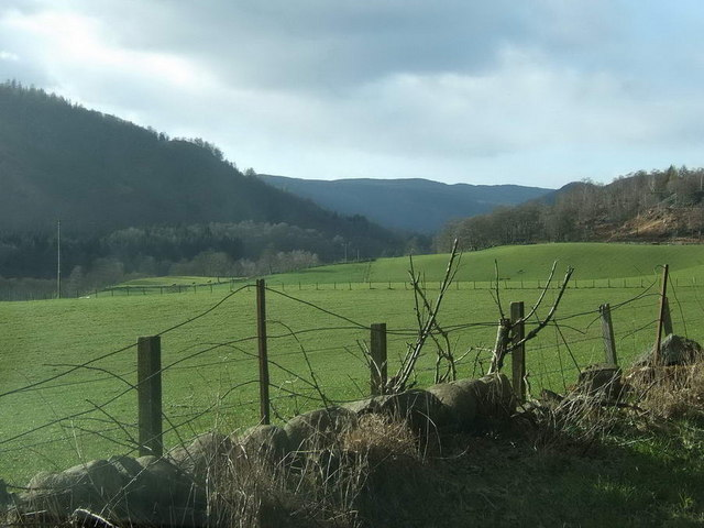Pastures on the banks of the Tay