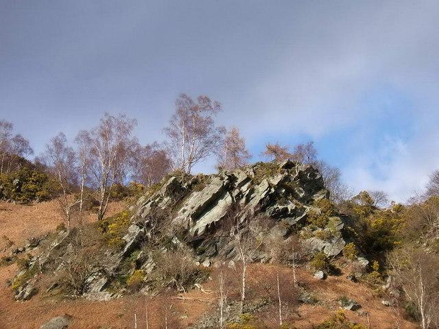 Rocky slate outcrop