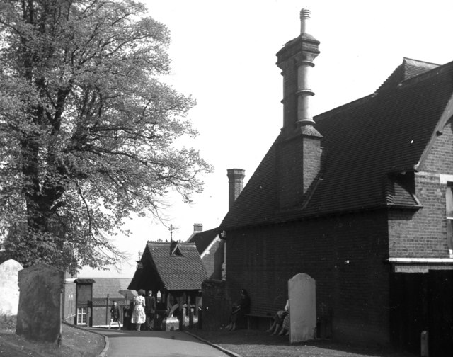 Churchyard and lychgate, St. Mary's Church, Harrow on the Hill, Middlesex