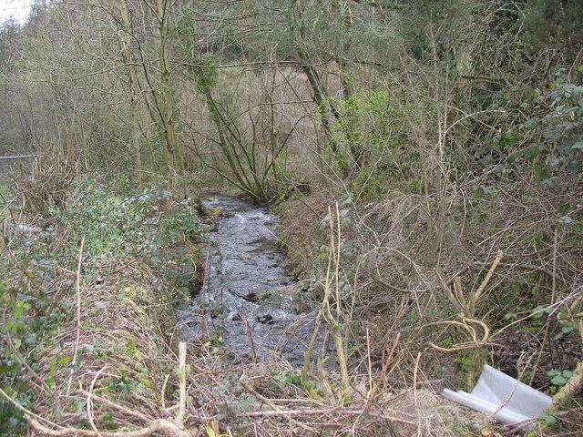 Afon Nant-y-garth  looking downstream