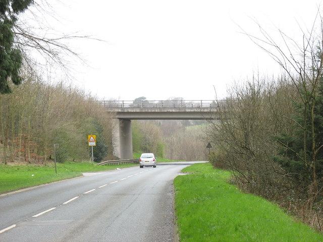 The A487(T) bridge over the B4547