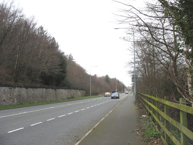 The Faenol Park wall running parallel with the B4547