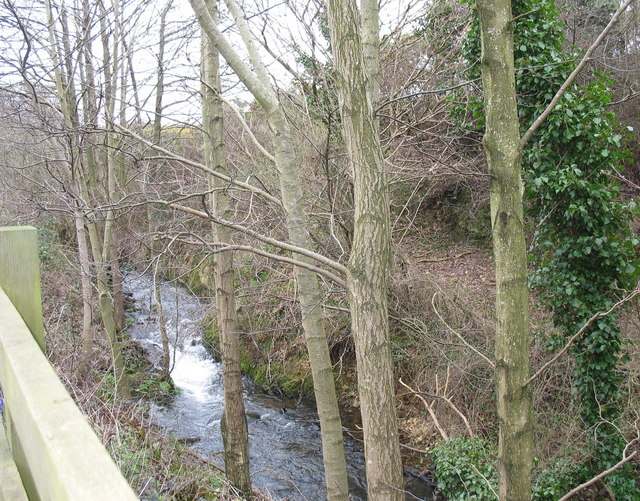 Afon Adda running parallel with the B4547