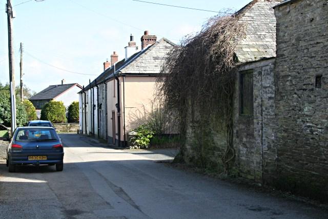 Houses in Merrymeet opposite the Church