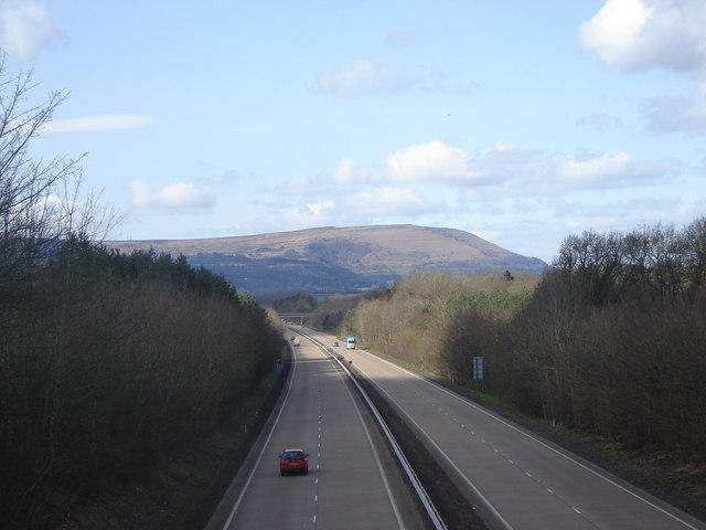 The A40 towards Abergavenny