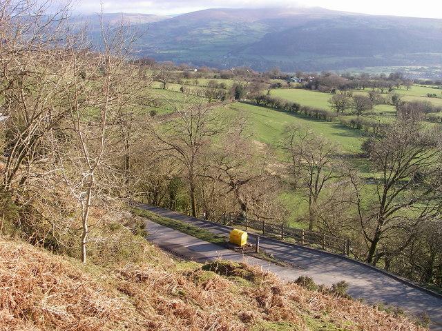 View from below Darren Disgwylfa