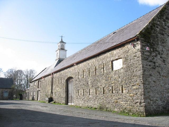 Seventeenth century barn at Y Faenol