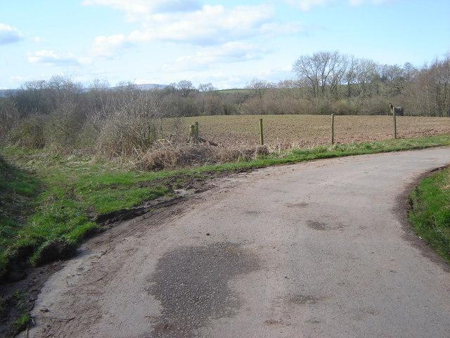 Road to Upper Clawdd Farm