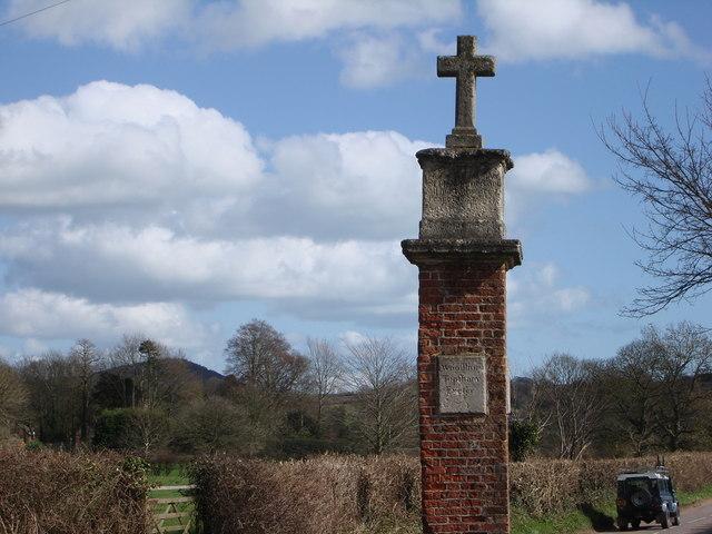 Memorial near Bicton Park