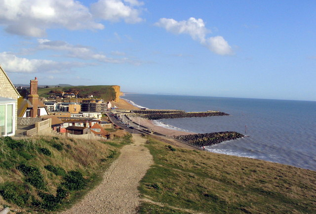 West Bay from the West Cliff path