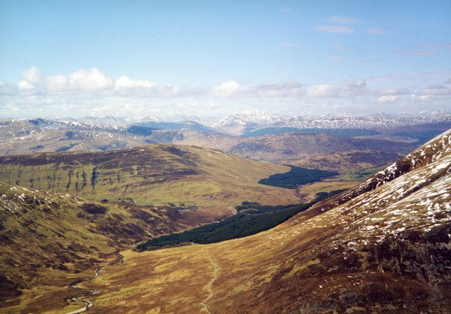 View North West from Mam na Gualainn