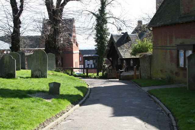 Churchyard and lychgate, St. Mary's Church, Harrow on the Hill, Middlesex