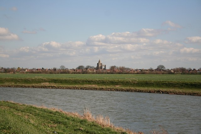 Crowland from Welland Bank