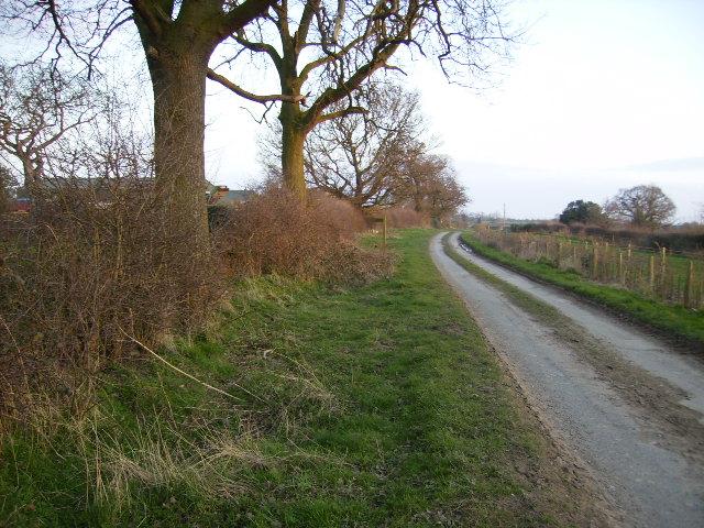 Bull Lane at Bohemia looking towards Low Bohemia Farm