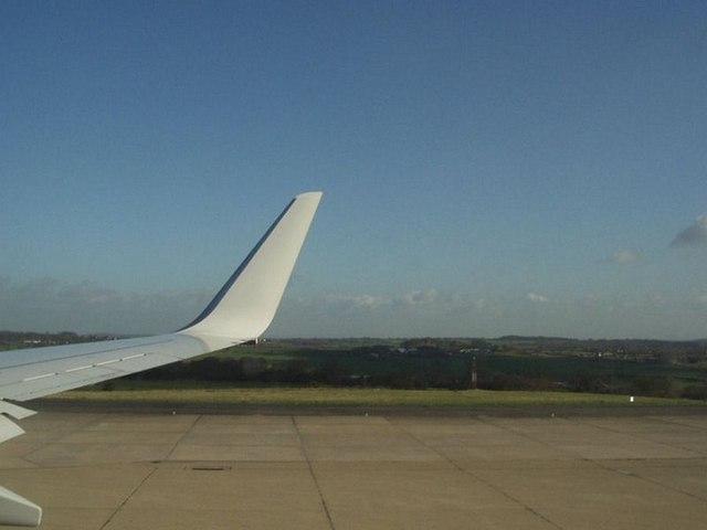 South-east end, Runway 32, Leeds Bradford Airport
