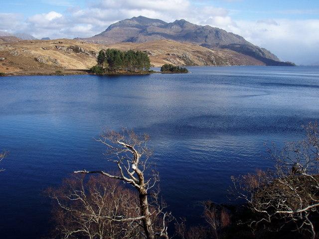 Across Loch Maree to Rubh' a' Mhadaidh-ruaidh