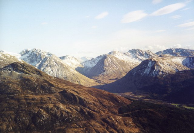 View South from Mam na Gualainn