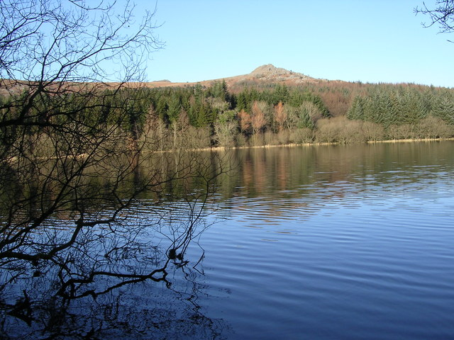 View across Burrator Reservoir towards Sharpitor