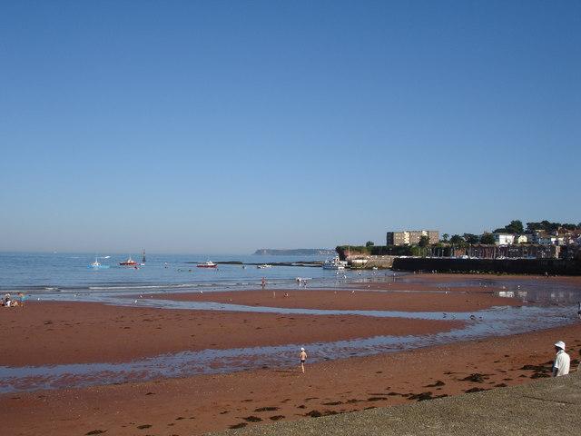 Sandy beach at Paignton