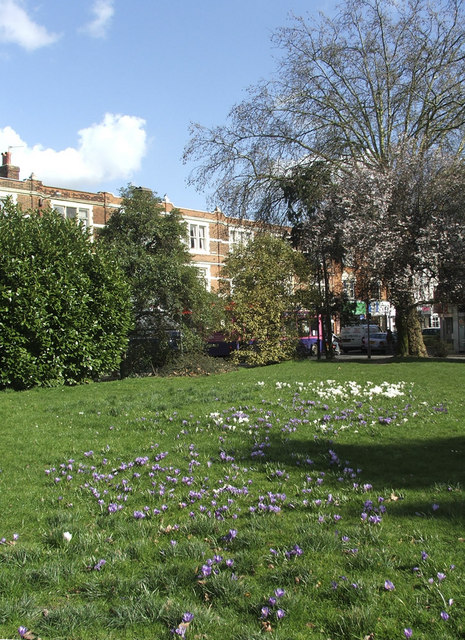 Library Green, Enfield, looking towards Church Street