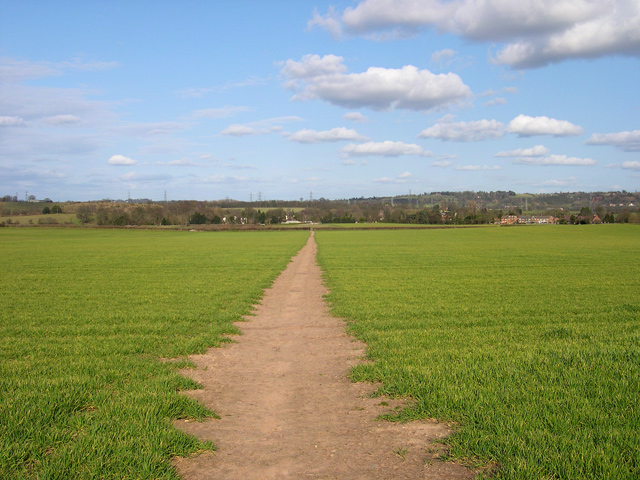 Footpath over Farmland, Trysull, Staffordshire