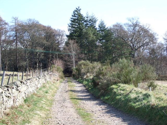 Track to Kincardine House