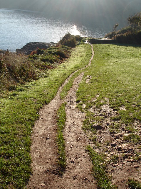 Muddy Path down to Elberry Cove