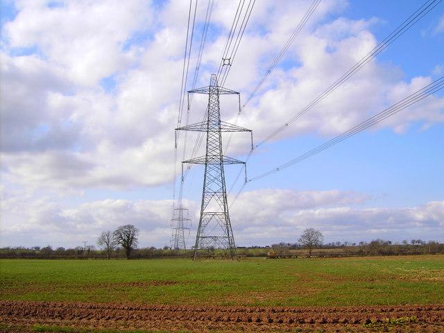 High voltage power lines, near Iron Acton, Bristol